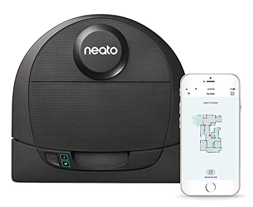 Neato Robotics D4 Connected Laser Guided Smart Robot Vacuum - Wi-Fi Connected, Ideal for Carpets, Hard Floors and Pet Hair, Works with Alexa